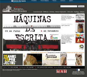 website Museu Angra do Heroismo